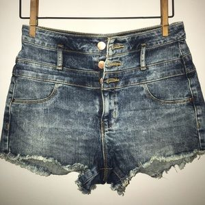 Refuge ripped jean shorts